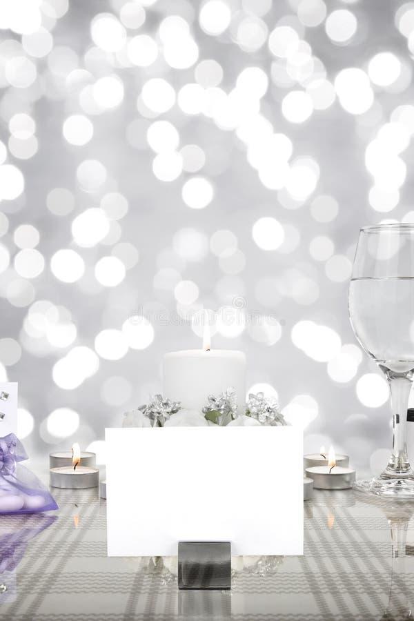 Επιτραπέζια ρύθμιση γαμήλιων γευμάτων στοκ εικόνες με δικαίωμα ελεύθερης χρήσης