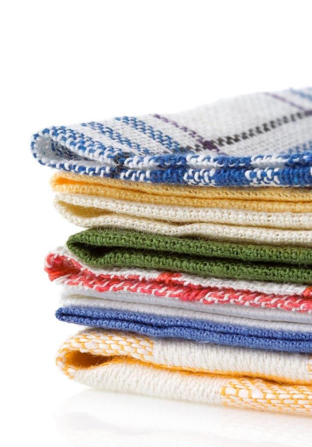 Επιτραπέζιες πετσέτες στο λευκό στοκ εικόνα