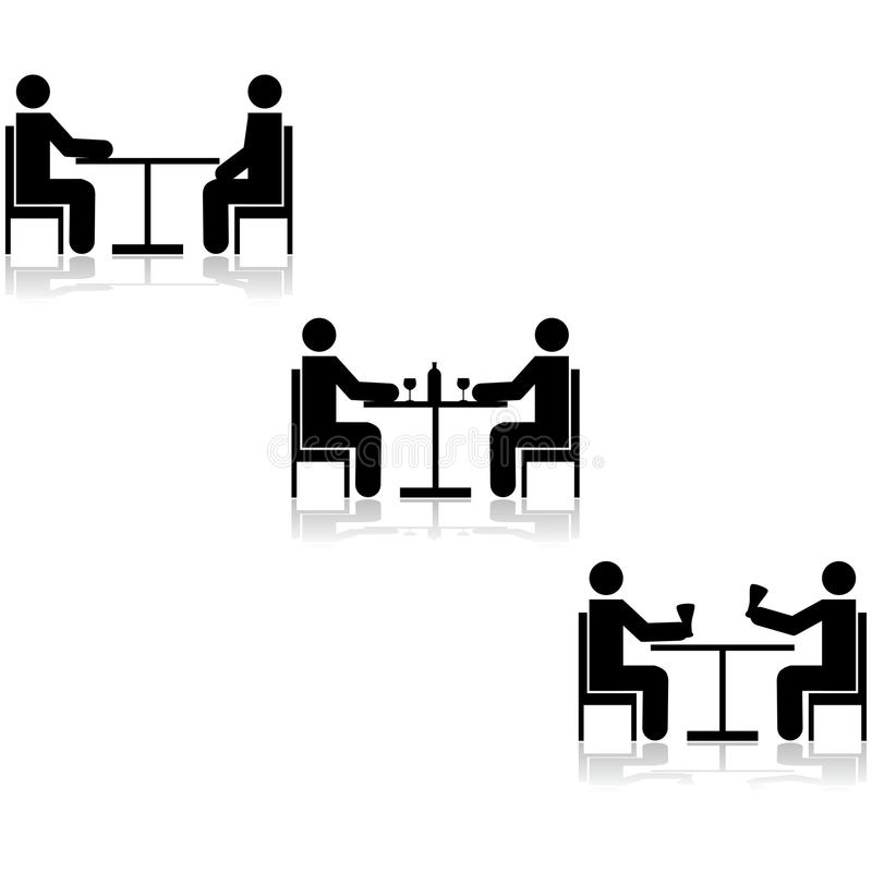 Επιτραπέζιες συνεδριάσεις ελεύθερη απεικόνιση δικαιώματος