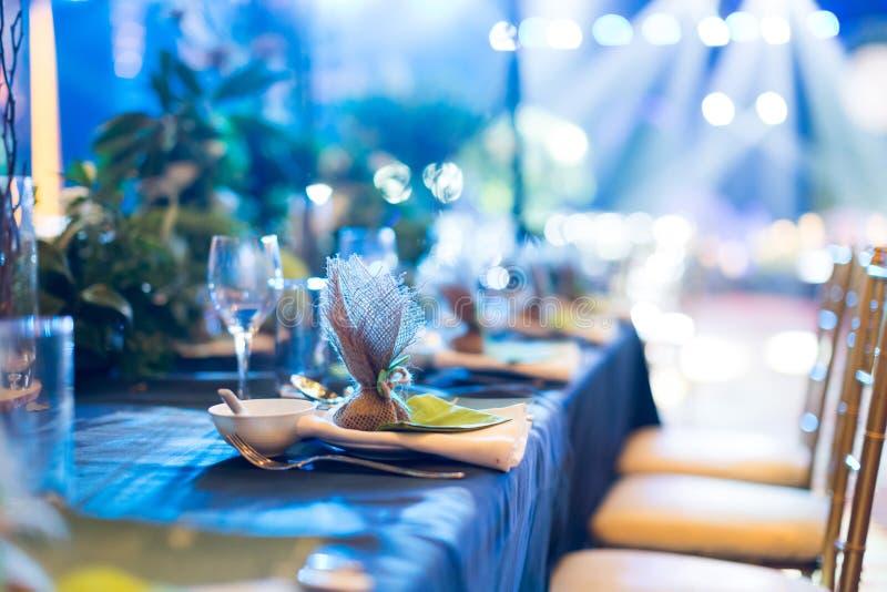 επιτραπέζιος γάμος γυαλιών εστίασης στοκ φωτογραφίες με δικαίωμα ελεύθερης χρήσης