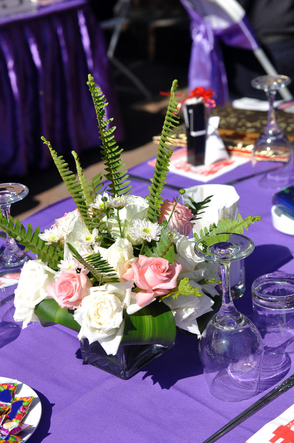 επιτραπέζιος γάμος λεπτ&om στοκ εικόνες