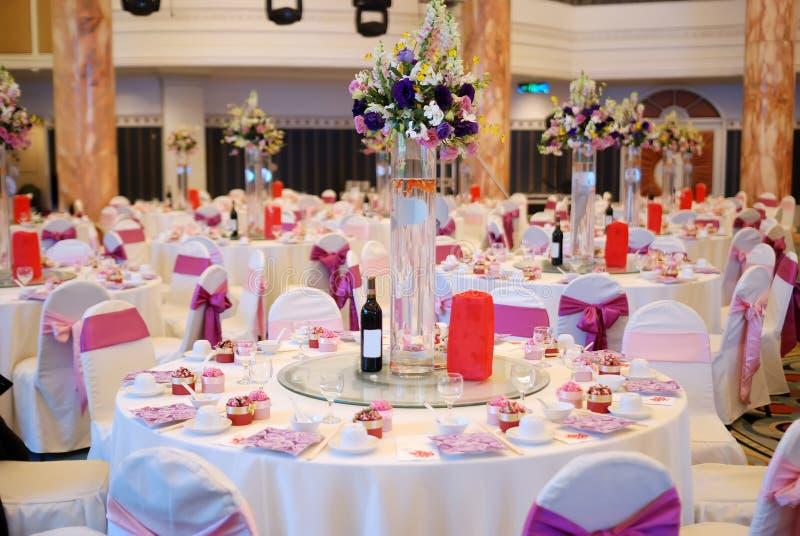 επιτραπέζιος γάμος λεπτ&om στοκ φωτογραφίες