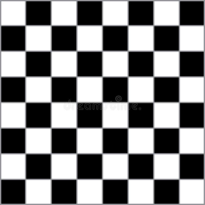 Επιτραπέζιος κλασικός σκακιού με τα γκρίζα οριοθετημένα τετράγωνα διανυσματική απεικόνιση
