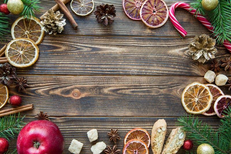 Επιτραπέζιο γλυκό υπόβαθρο διακοπών Χριστουγέννων διάστημα αντιγράφων Lollipop Γ στοκ εικόνες