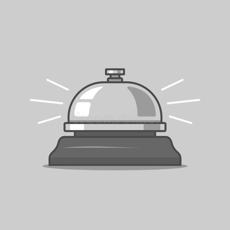 Επιτραπέζιο κουδούνι πιέστε και καλέστε τον υπάλληλο Άφιξη απεικόνιση αποθεμάτων