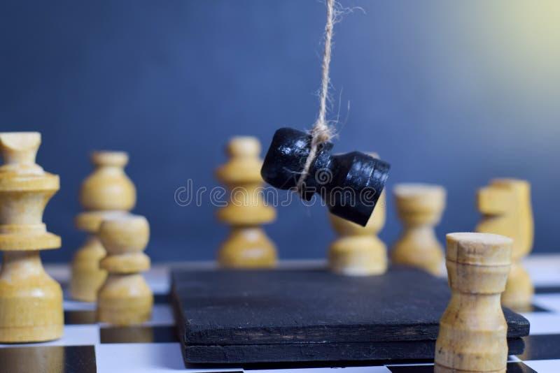 Επιτραπέζιο παιχνίδι σκακιού Έννοια στρατηγικού προγραμματισμού και νοημοσύνης στοκ εικόνες