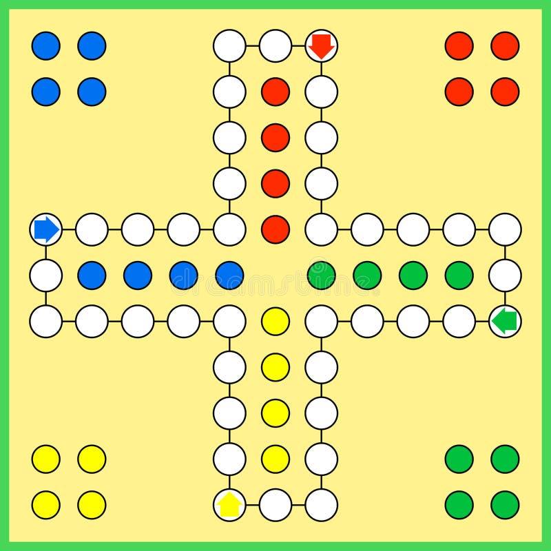 Επιτραπέζιο παιχνίδι του Ludo απεικόνιση αποθεμάτων
