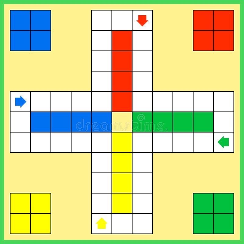 Επιτραπέζιο παιχνίδι του Ludo διανυσματική απεικόνιση