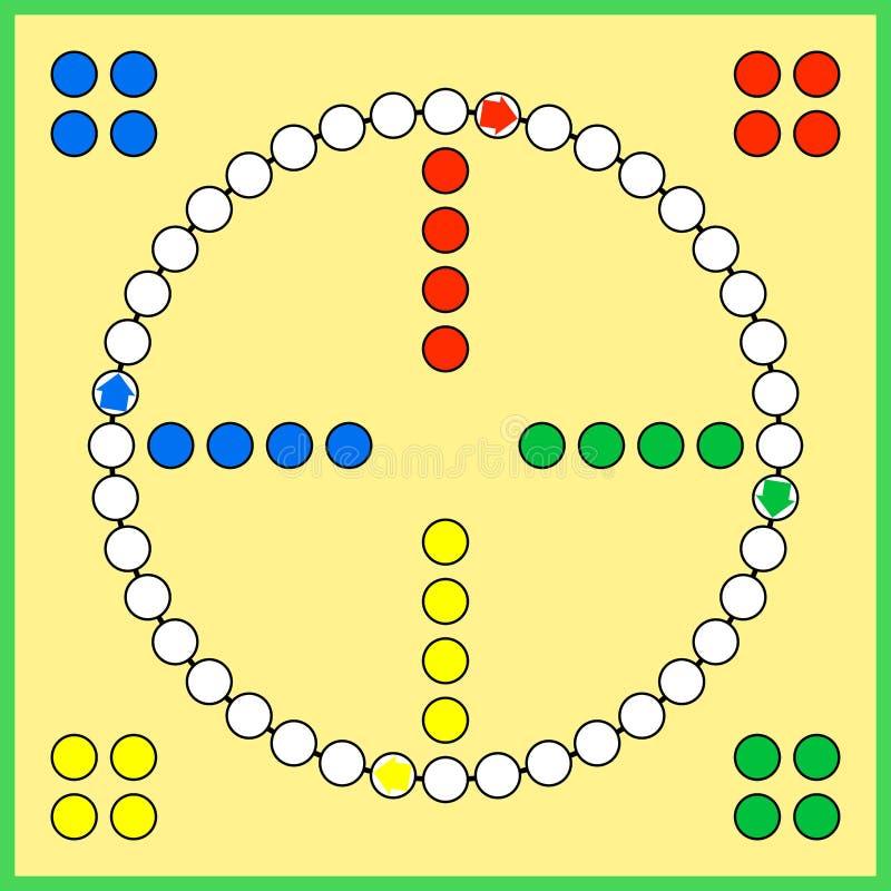 Επιτραπέζιο παιχνίδι του Ludo ελεύθερη απεικόνιση δικαιώματος
