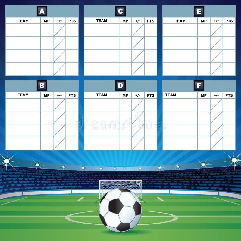 Επιτραπέζιο πρότυπο ομάδας ποδοσφαίρου απεικόνιση αποθεμάτων
