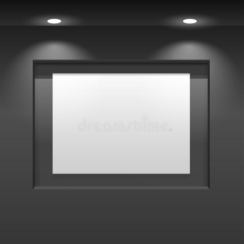 Επιτροπή αιθουσών εκθέσεως Κάθετη ένωση αφισών στον τοίχο ελεύθερη απεικόνιση δικαιώματος