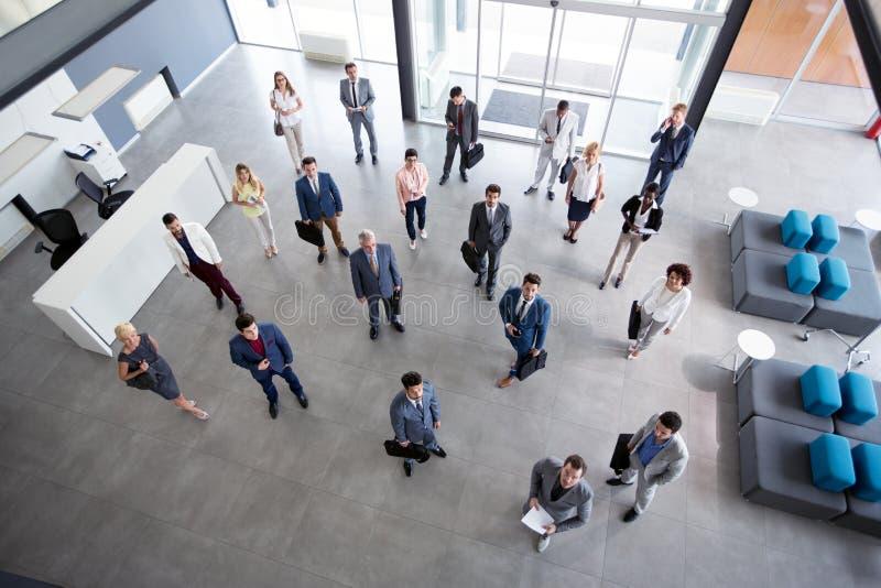 Επιτυχές πορτρέτο των επιχειρηματιών στοκ εικόνα