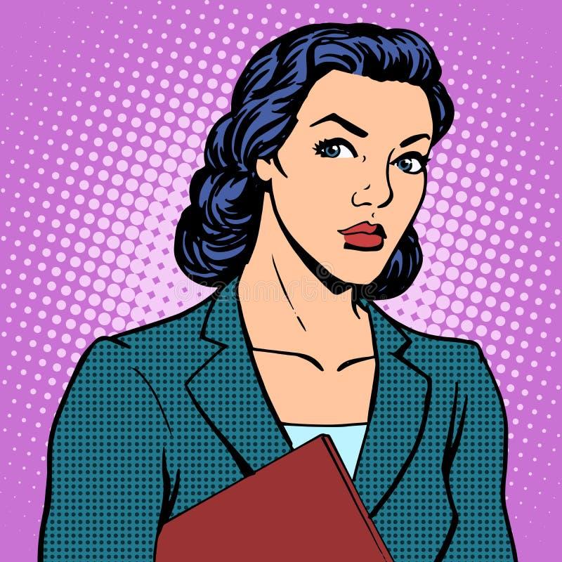 Επιτυχής γυναίκα επιχειρηματιών διανυσματική απεικόνιση
