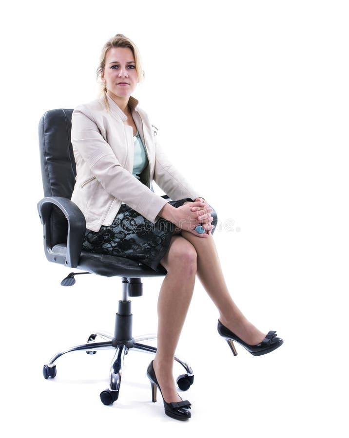 Επιτυχής επιχειρησιακή γυναίκα στοκ εικόνες