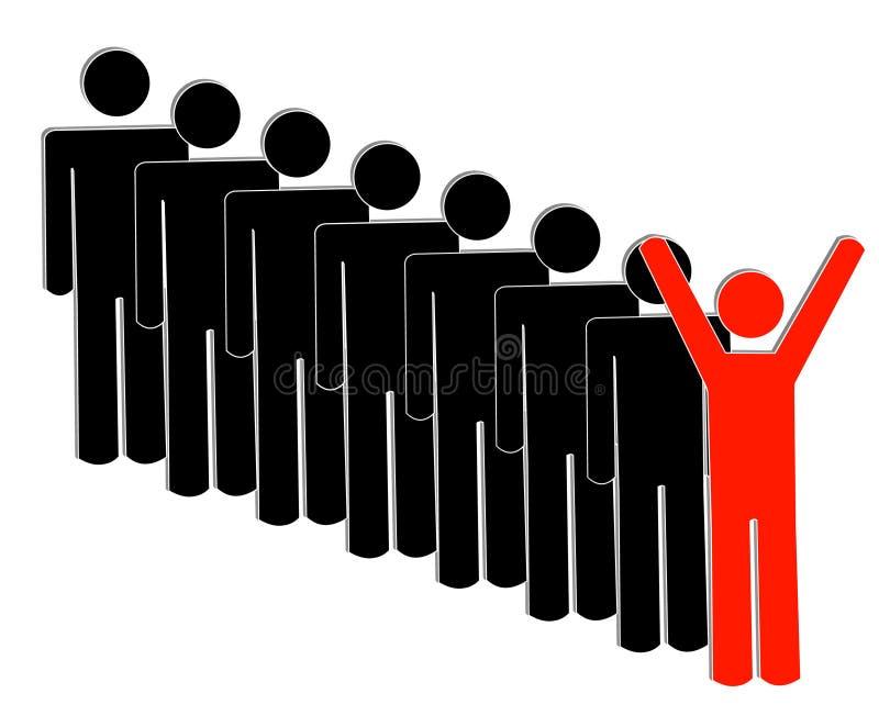 επιτυχής ομάδα ηγετών ελεύθερη απεικόνιση δικαιώματος