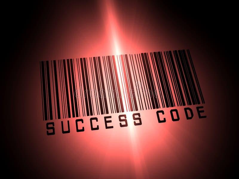επιτυχία γραμμωτών κωδίκω&n διανυσματική απεικόνιση