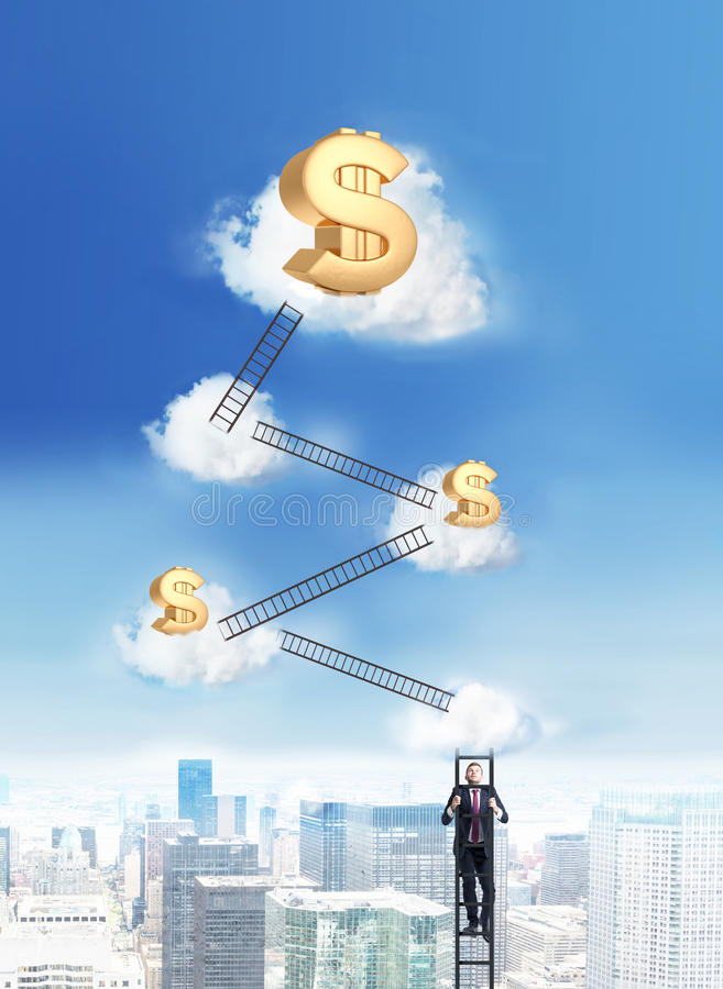 Επιτυχία και οικονομική έννοια αύξησης στοκ φωτογραφία με δικαίωμα ελεύθερης χρήσης
