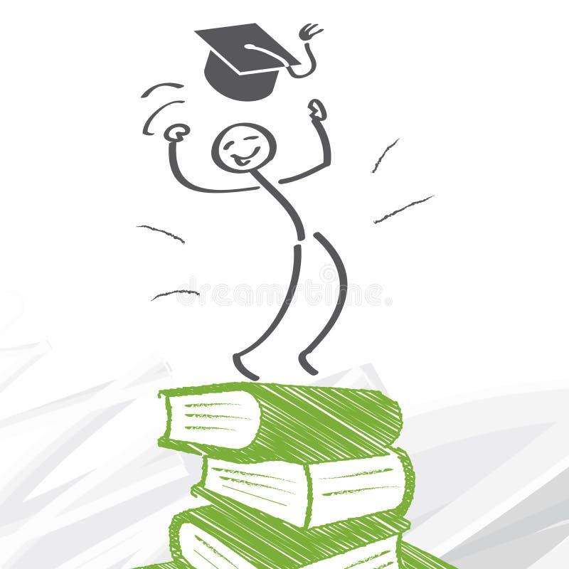 Επιτυχία μέσω της εκπαίδευσης διανυσματική απεικόνιση