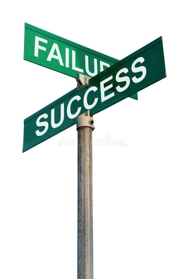 επιτυχία σημαδιών αποτυχί& στοκ φωτογραφίες