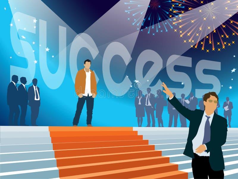 Επιτυχία στην επιχείρηση διανυσματική απεικόνιση