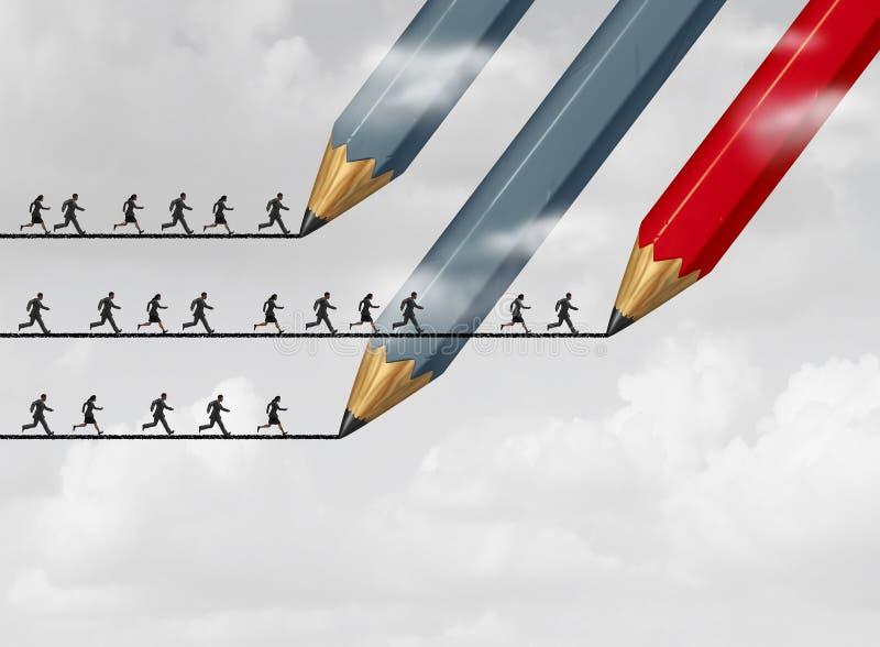Επιτυχία στη επιχειρησιακή στρατηγική ελεύθερη απεικόνιση δικαιώματος