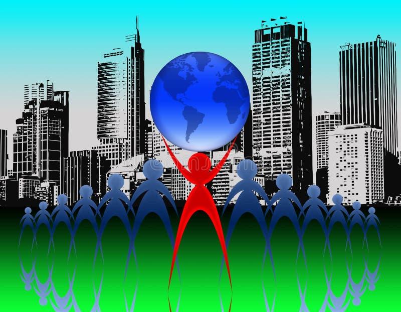 επιτυχία 01 ατόμων ελεύθερη απεικόνιση δικαιώματος
