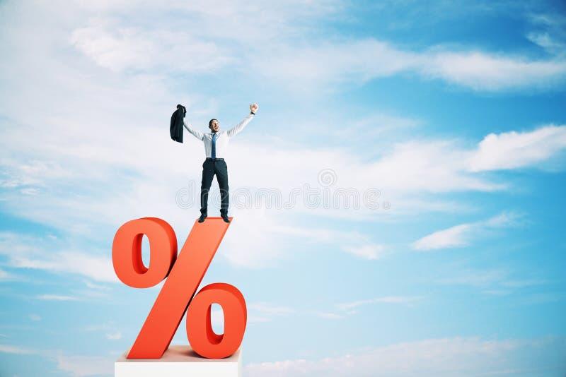 Επιτόκιο, έννοια επένδυσης και δανείου διανυσματική απεικόνιση