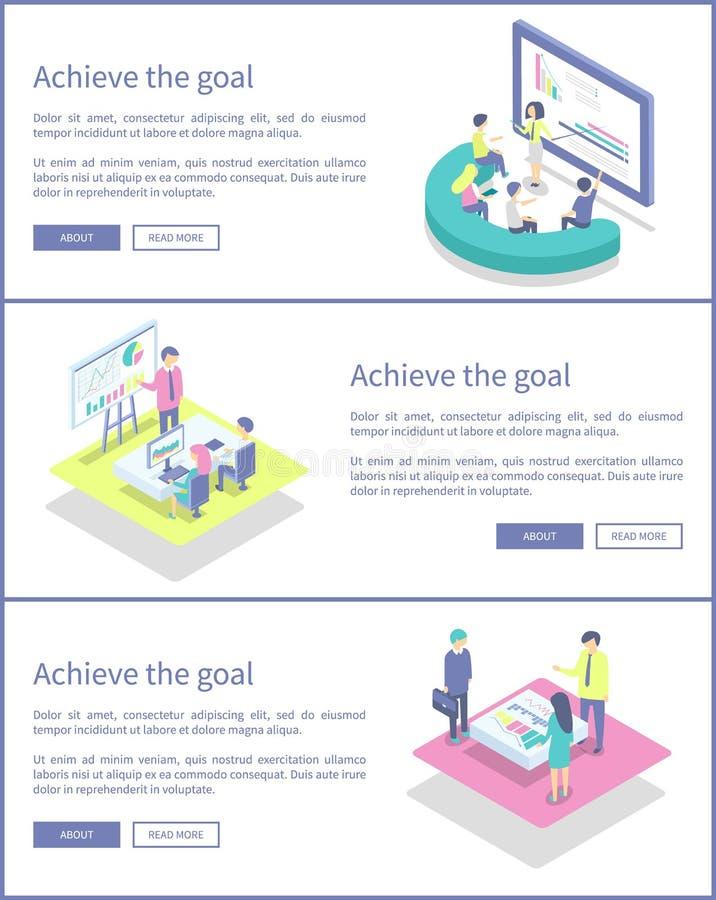 Επιτύχετε την καθορισμένη διανυσματική απεικόνιση πληροφοριών αφισών στόχου απεικόνιση αποθεμάτων
