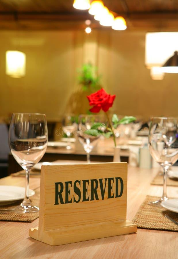Επιφυλάξεις εστιατορίων στοκ φωτογραφία με δικαίωμα ελεύθερης χρήσης