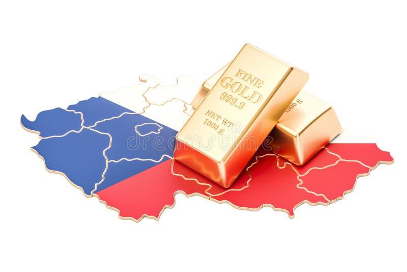 Επιφυλάξεις ξένος-ανταλλαγής της έννοιας Δημοκρατίας της Τσεχίας, τρισδιάστατο renderin ελεύθερη απεικόνιση δικαιώματος