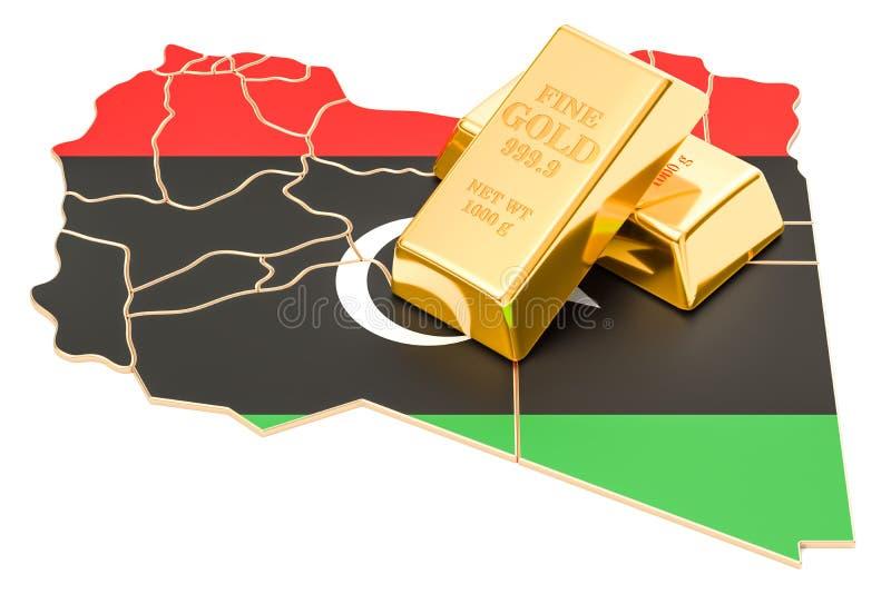 Επιφυλάξεις ξένος-ανταλλαγής της έννοιας της Λιβύης, τρισδιάστατη απόδοση διανυσματική απεικόνιση