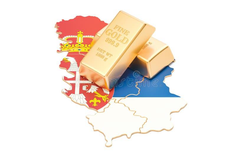 Επιφυλάξεις ξένος-ανταλλαγής της έννοιας της Σερβίας, τρισδιάστατη απόδοση διανυσματική απεικόνιση