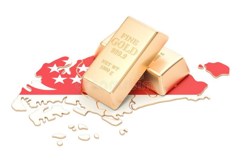 Επιφυλάξεις ξένος-ανταλλαγής της έννοιας της Σιγκαπούρης, τρισδιάστατη απόδοση απεικόνιση αποθεμάτων