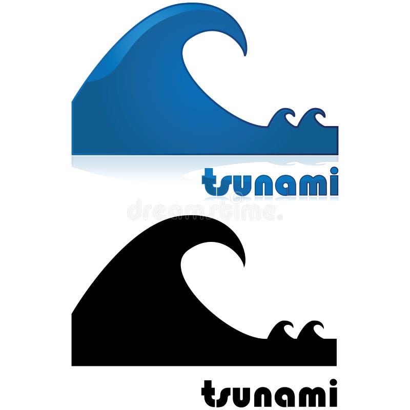 Επιφυλακή τσουνάμι απεικόνιση αποθεμάτων