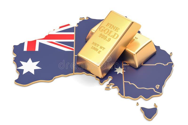 Επιφυλάξεις ξένος-ανταλλαγής της έννοιας της Αυστραλίας, τρισδιάστατη απόδοση διανυσματική απεικόνιση