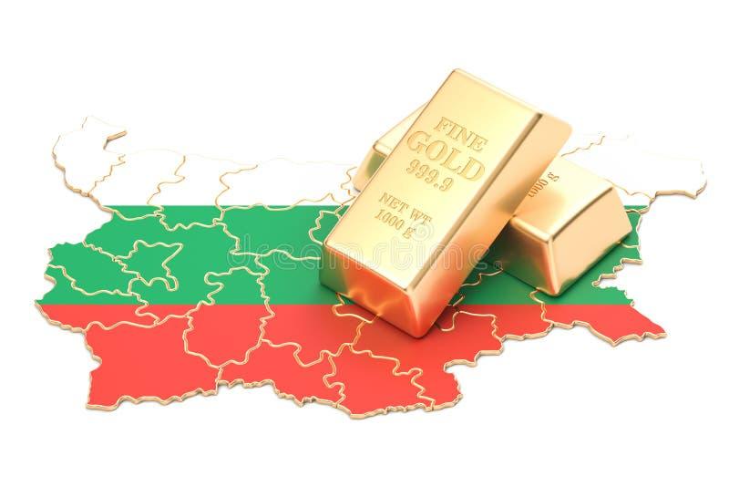 Επιφυλάξεις ξένος-ανταλλαγής της έννοιας της Βουλγαρίας, τρισδιάστατη απόδοση απεικόνιση αποθεμάτων