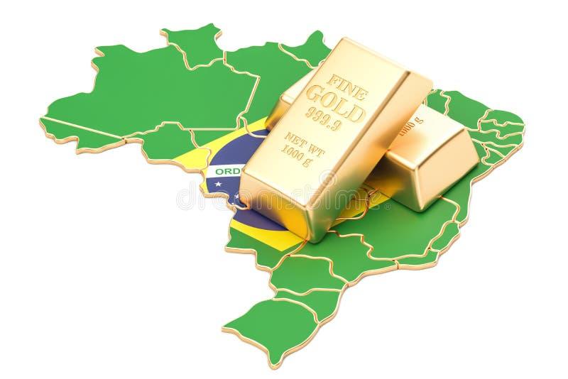 Επιφυλάξεις ξένος-ανταλλαγής της έννοιας της Βραζιλίας, τρισδιάστατη απόδοση απεικόνιση αποθεμάτων