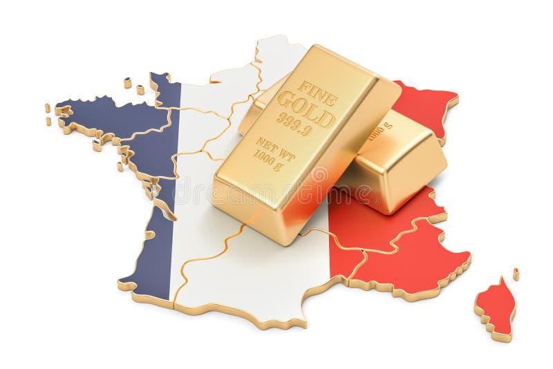 Επιφυλάξεις ξένος-ανταλλαγής της έννοιας της Γαλλίας, τρισδιάστατη απόδοση ελεύθερη απεικόνιση δικαιώματος