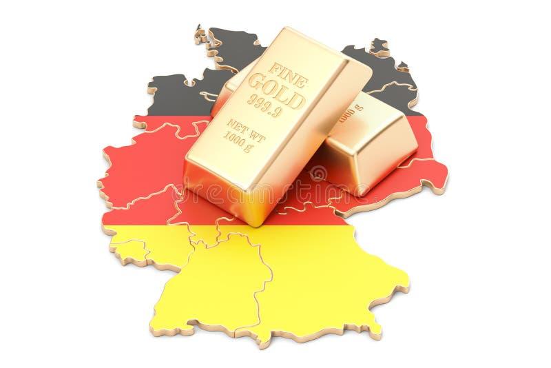 Επιφυλάξεις ξένος-ανταλλαγής της έννοιας της Γερμανίας, τρισδιάστατη απόδοση διανυσματική απεικόνιση
