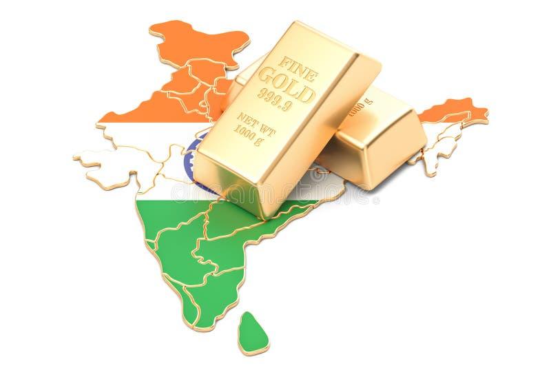 Επιφυλάξεις ξένος-ανταλλαγής της έννοιας της Ινδίας, τρισδιάστατη απόδοση διανυσματική απεικόνιση