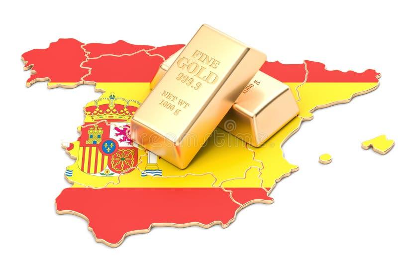 Επιφυλάξεις ξένος-ανταλλαγής της έννοιας της Ισπανίας, τρισδιάστατη απόδοση απεικόνιση αποθεμάτων