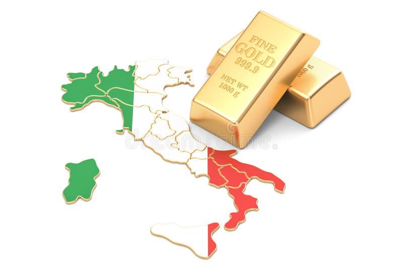 Επιφυλάξεις ξένος-ανταλλαγής της έννοιας της Ιταλίας, τρισδιάστατη απόδοση ελεύθερη απεικόνιση δικαιώματος