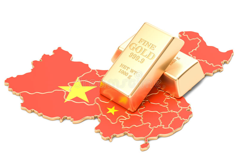 Επιφυλάξεις ξένος-ανταλλαγής της έννοιας της Κίνας, τρισδιάστατη απόδοση απεικόνιση αποθεμάτων