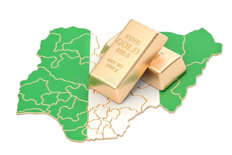 Επιφυλάξεις ξένος-ανταλλαγής της έννοιας της Νιγηρίας, τρισδιάστατη απόδοση ελεύθερη απεικόνιση δικαιώματος