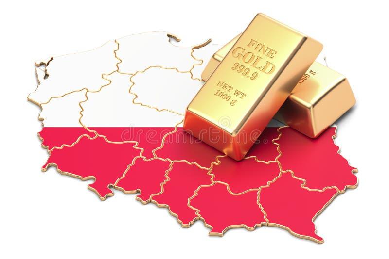 Επιφυλάξεις ξένος-ανταλλαγής της έννοιας της Πολωνίας, τρισδιάστατη απόδοση απεικόνιση αποθεμάτων