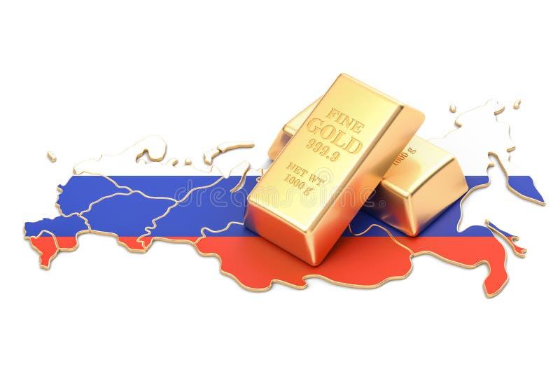 Επιφυλάξεις ξένος-ανταλλαγής της έννοιας της Ρωσίας, τρισδιάστατη απόδοση απεικόνιση αποθεμάτων
