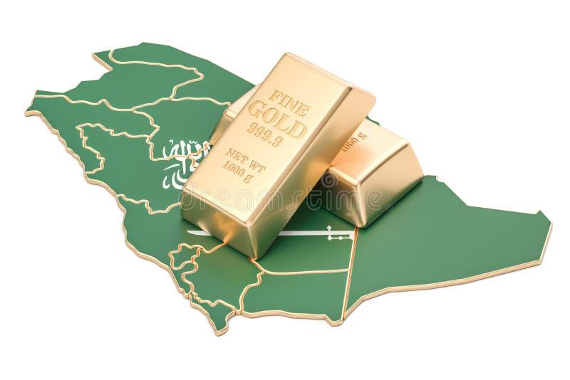 Επιφυλάξεις ξένος-ανταλλαγής της έννοιας της Σαουδικής Αραβίας, τρισδιάστατη απόδοση απεικόνιση αποθεμάτων