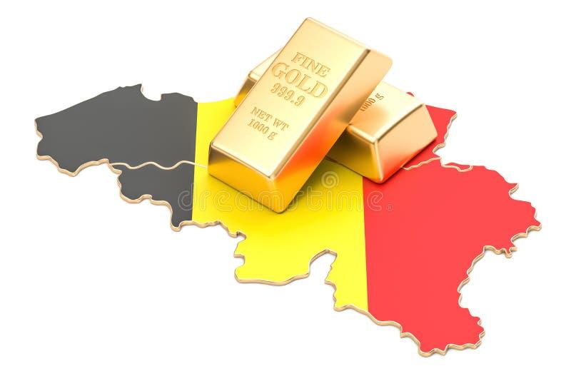 Επιφυλάξεις ξένος-ανταλλαγής της έννοιας του Βελγίου, τρισδιάστατη απόδοση απεικόνιση αποθεμάτων