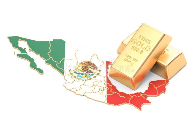 Επιφυλάξεις ξένος-ανταλλαγής της έννοιας του Μεξικού, τρισδιάστατη απόδοση απεικόνιση αποθεμάτων