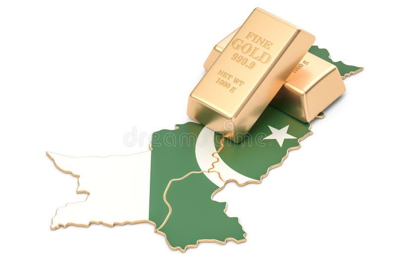 Επιφυλάξεις ξένος-ανταλλαγής της έννοιας του Πακιστάν, τρισδιάστατη απόδοση απεικόνιση αποθεμάτων
